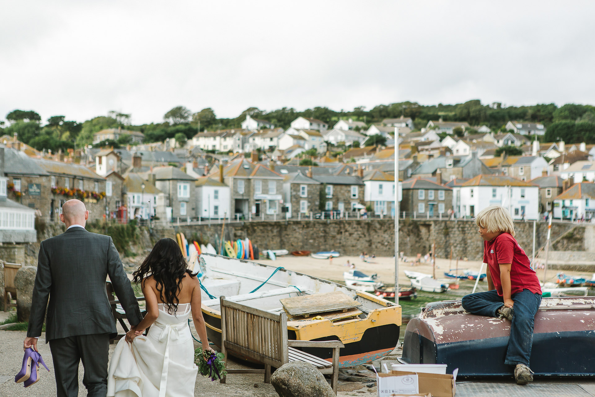 mousehole, bride, groom, harbour