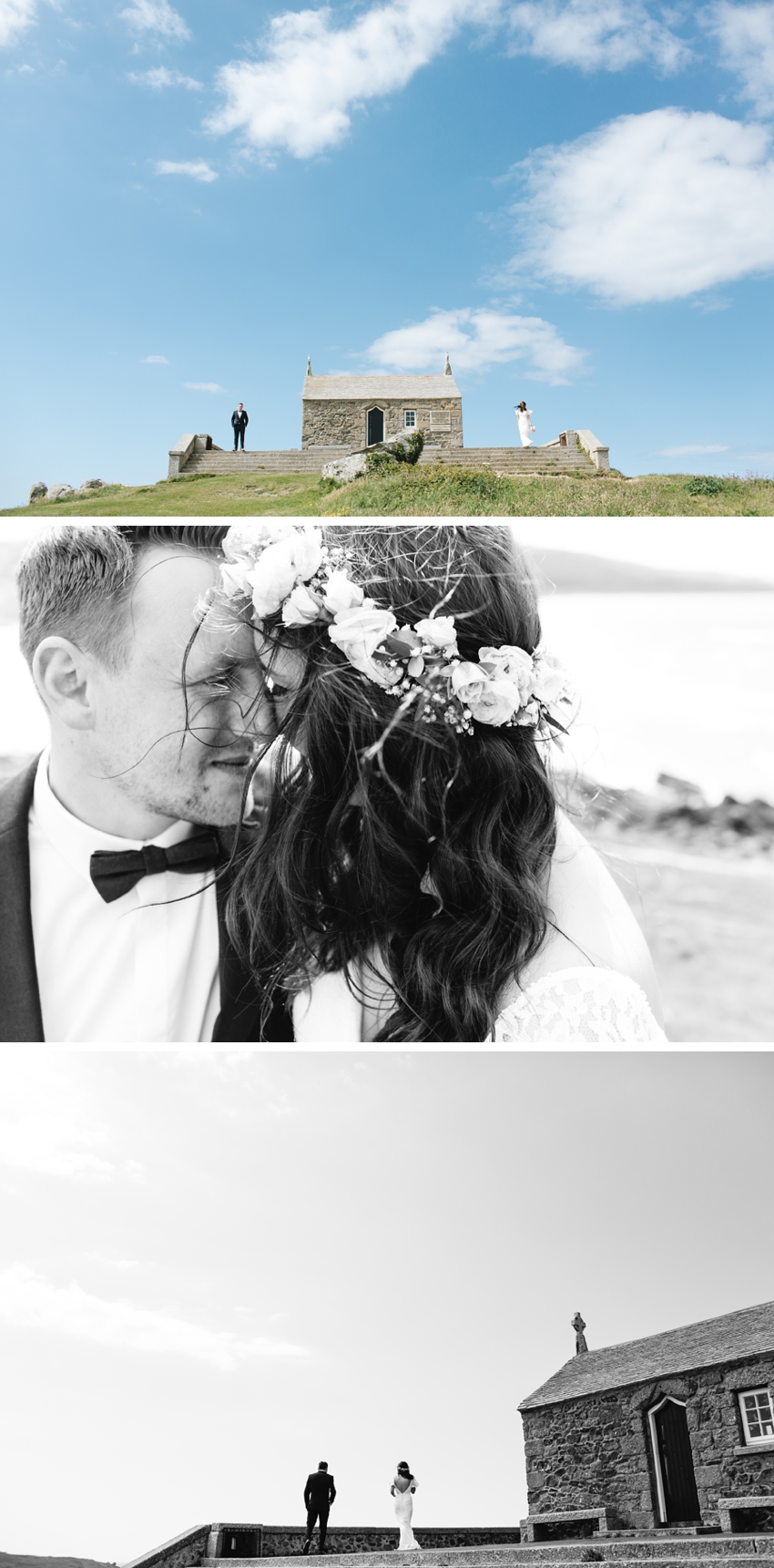 headland, bride, groom, cornwall