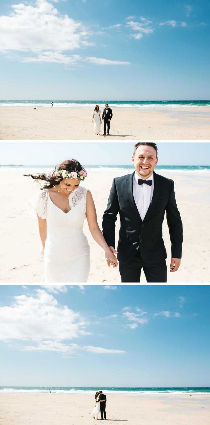 Cornwall, elopement, beach