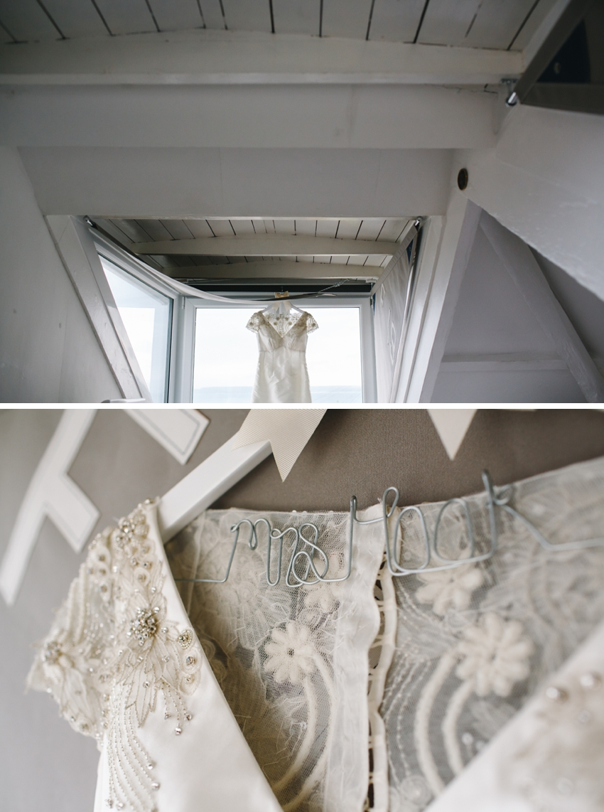 wedding dress, st ives, cornwall