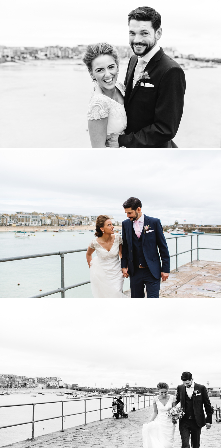 harbour, wedding, bride, groom