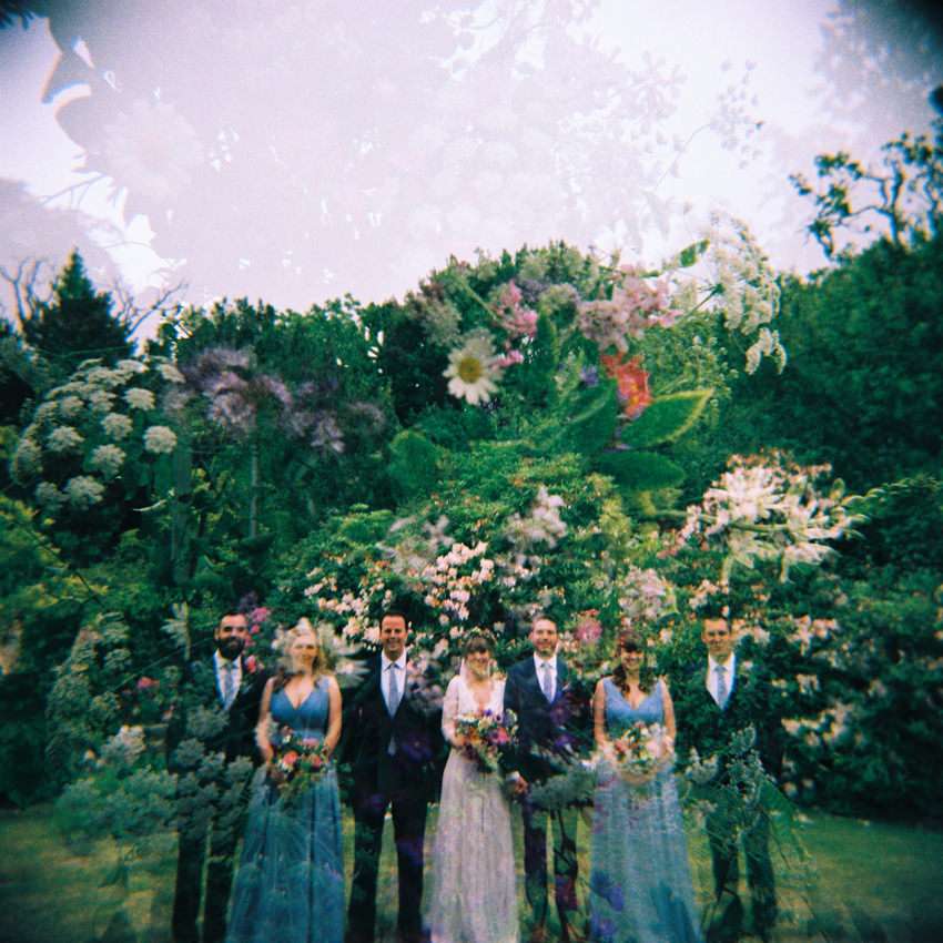holga, wedding, bridal party