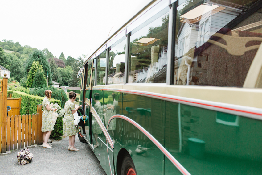 vintage, bus, wedding