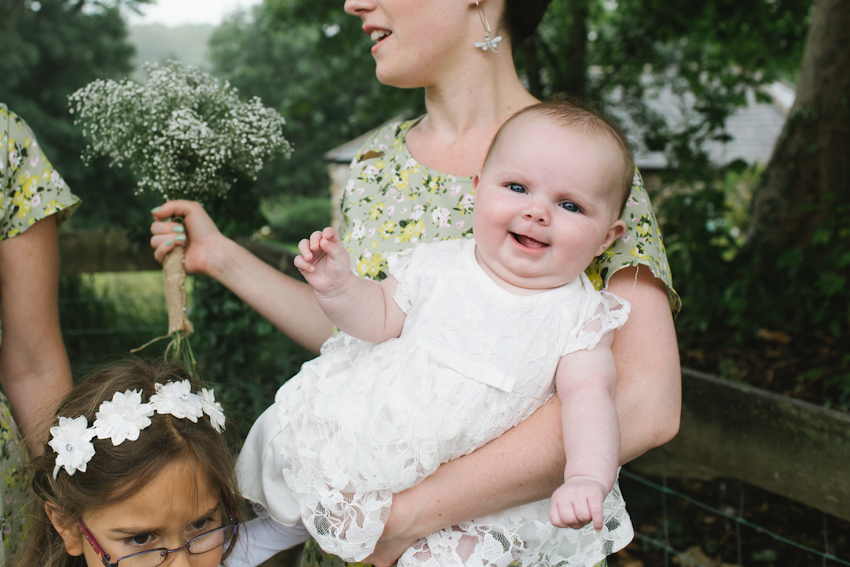 baby, wedding, flower girl