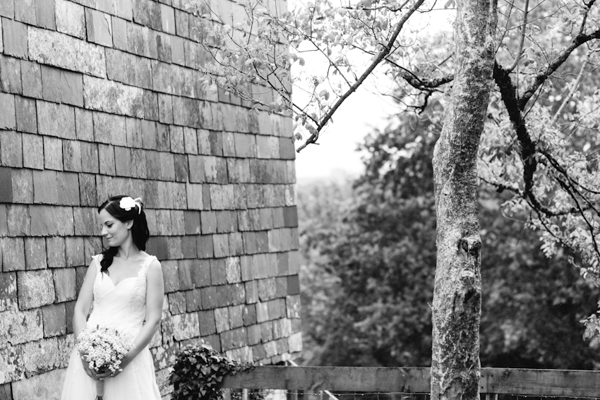 bride, portrait, black, white