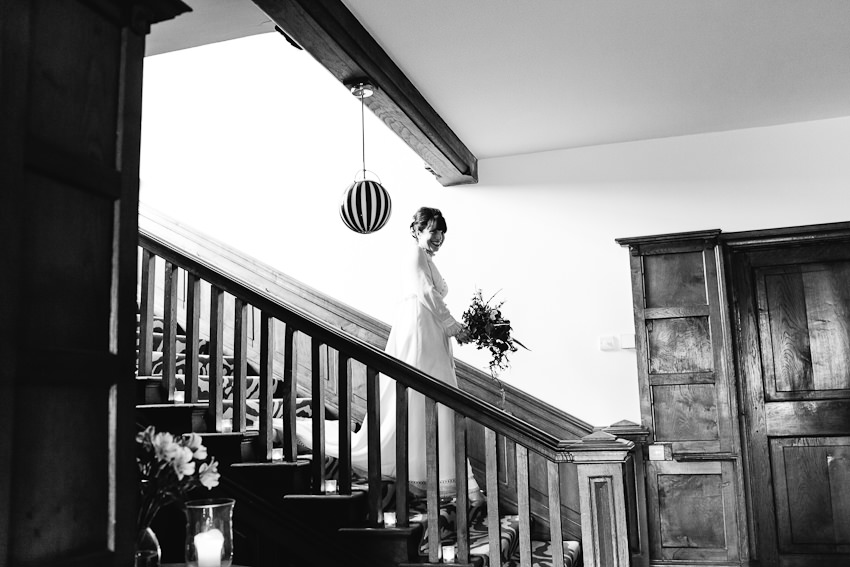 stairs, bride, entrance
