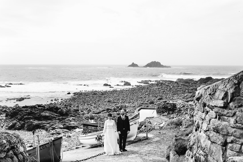 Seaside elopement Cornwall