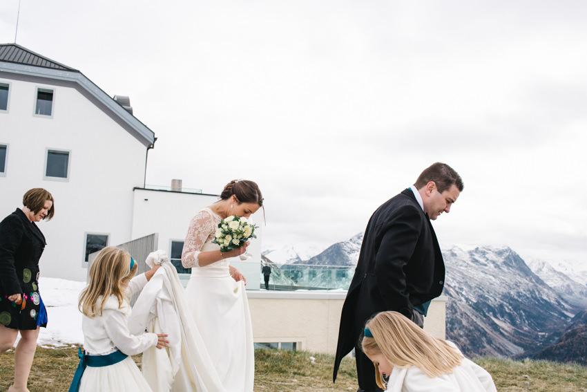 Bride, Muottas, Muragl, Wedding, Romantik