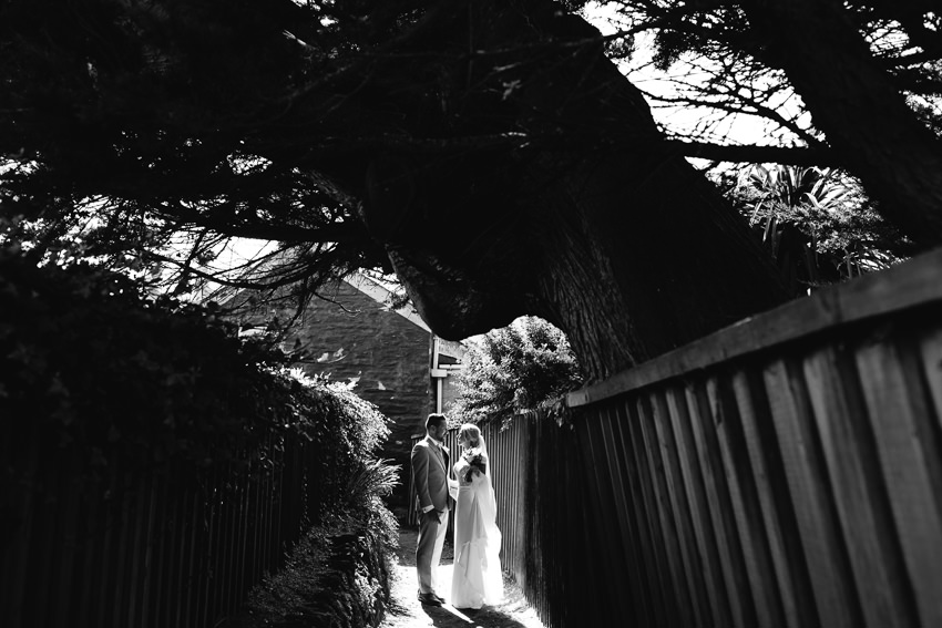 Black, White, Wedding, Cornwall