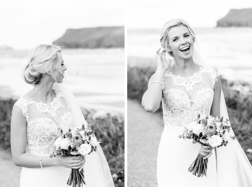 Cornwall, Beach, Wedding, Bride