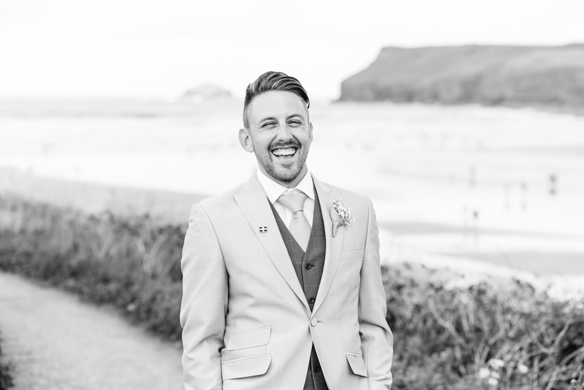 Cornwall, Beach, Wedding, Groom