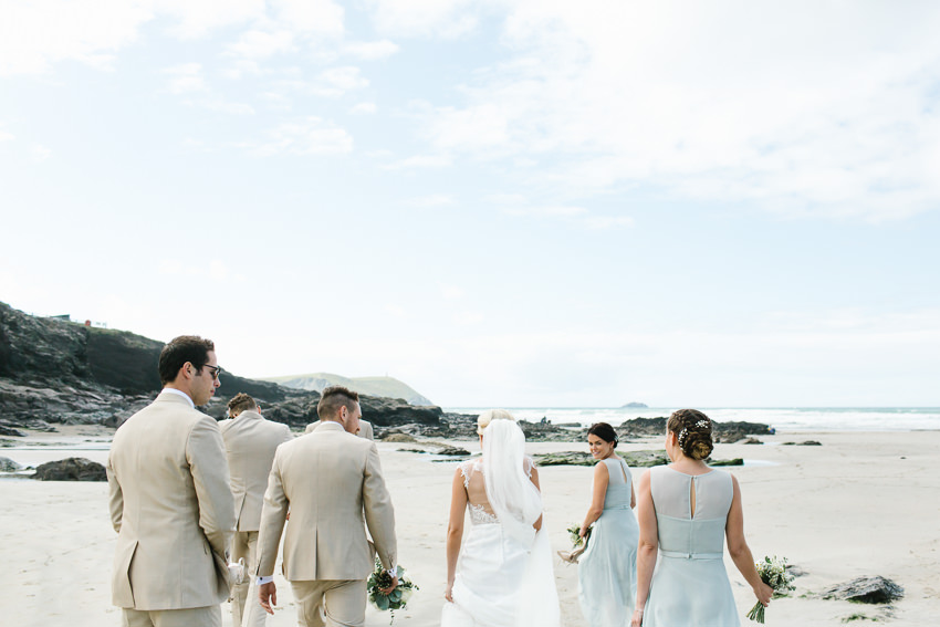 Cornwall, Beach, Wedding, Polzeath