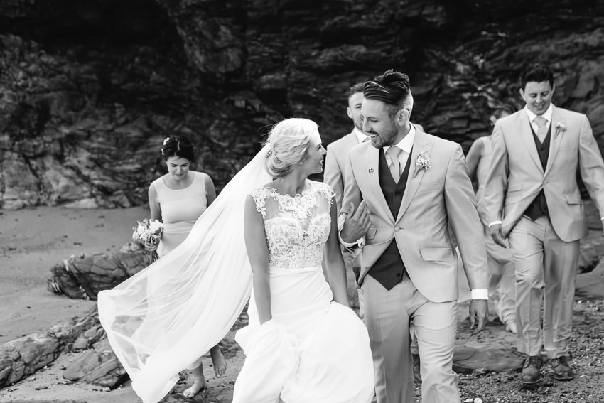 Beach, wedding, cornwall, polzeath