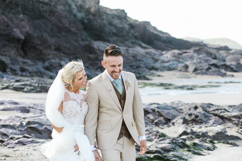 bride, groom, beach, wedding, photographs