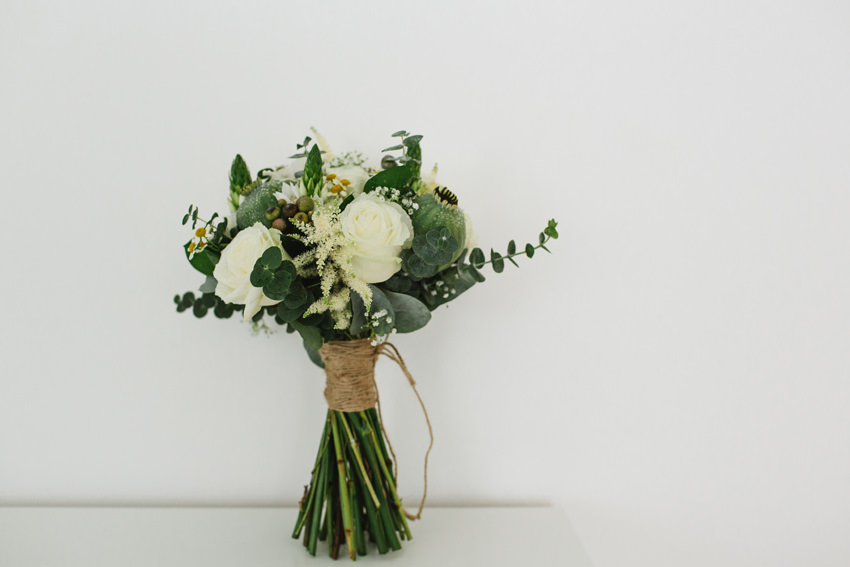 green, white, bouquet