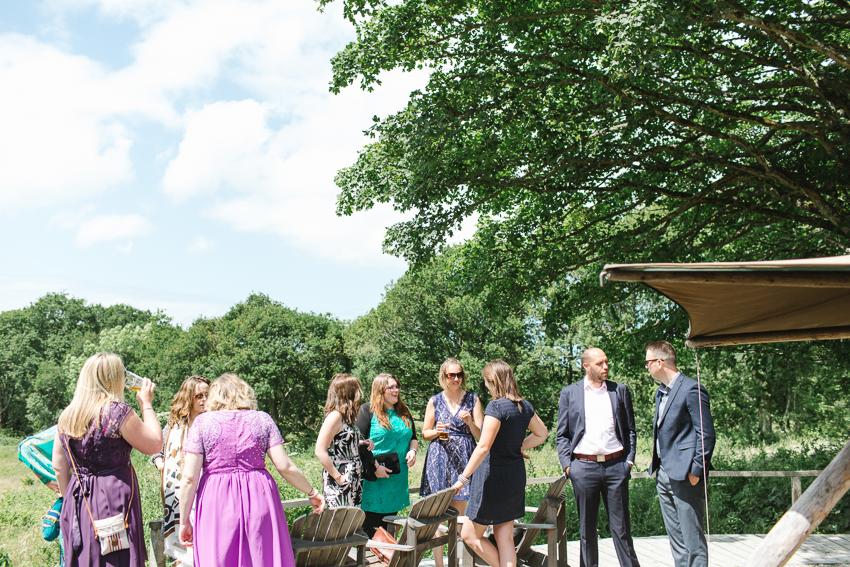 outdoor wedding woodland debs ivelja