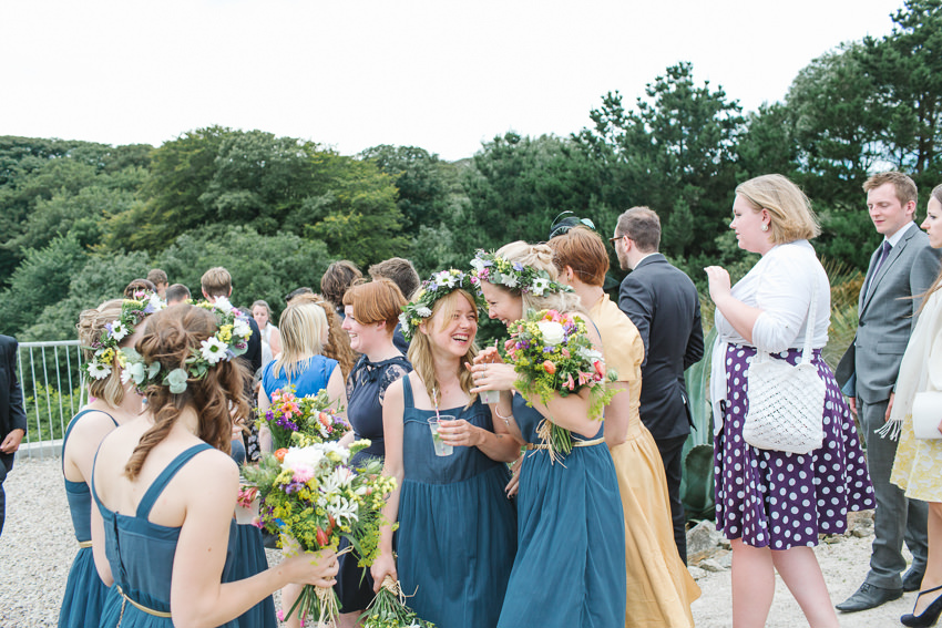st miches mount, penzance, wedding