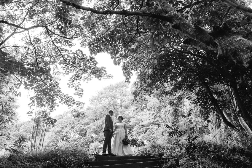 couple, wedding photographs, gardens
