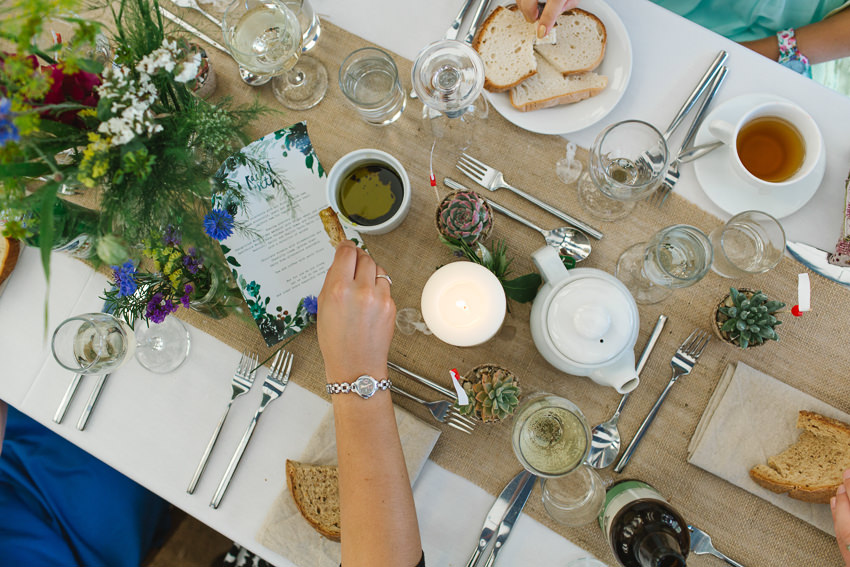 sharing platters, food, weddings