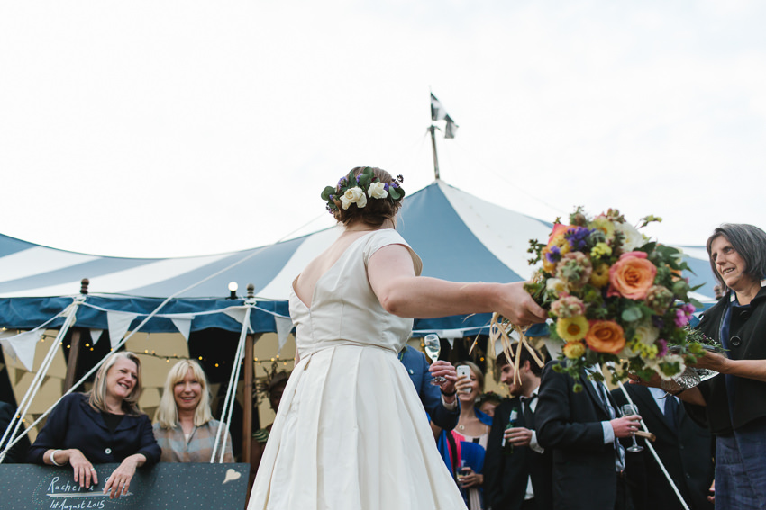 tremenheere wedding, flower crown, bride, bridesmaid