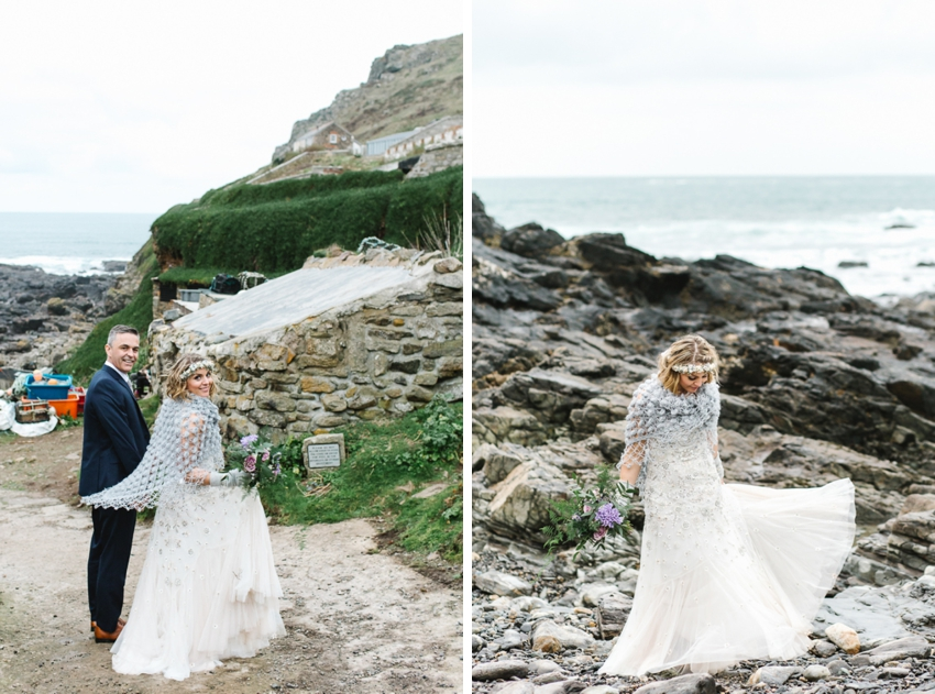 BoHo Cornwall, Elope, Intimate Wedding