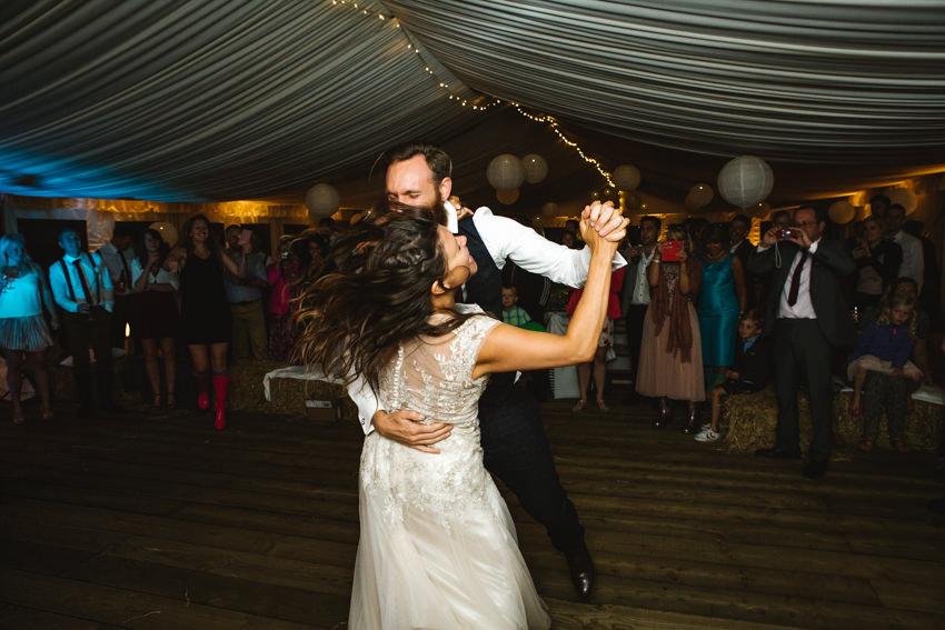 Dancing, Cornish Tipi Wedding