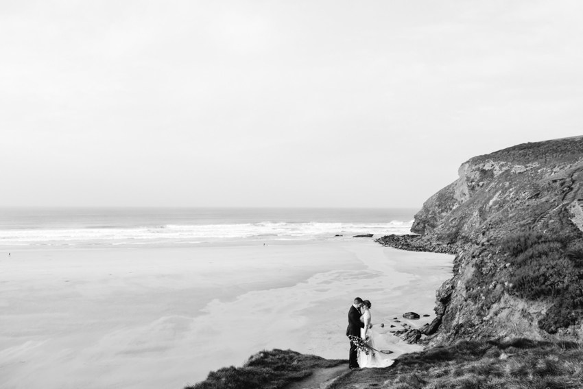 Beach, Elopement, Cornwall, The Scarlet Hotel