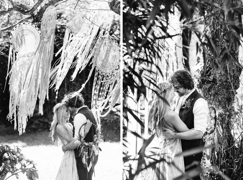 dreamcatcher, wedding, boho, cornwall, feather veil