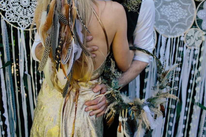 dreamcatcher, wedding, boho, cornwall, feather veil
