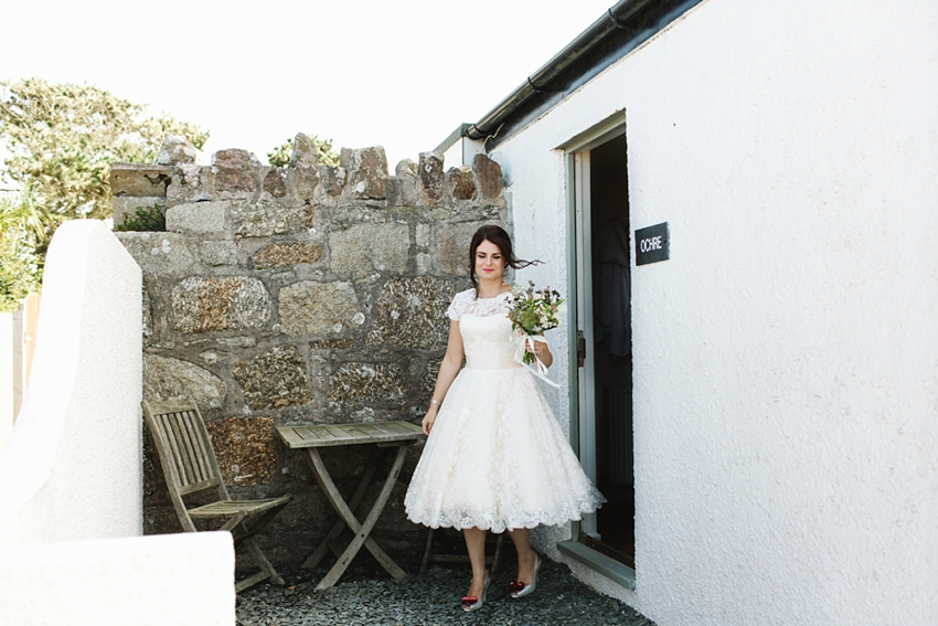 50s wedding dress, elopement, cornwall