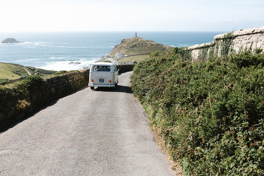 vw, camper, wedding, cornwall