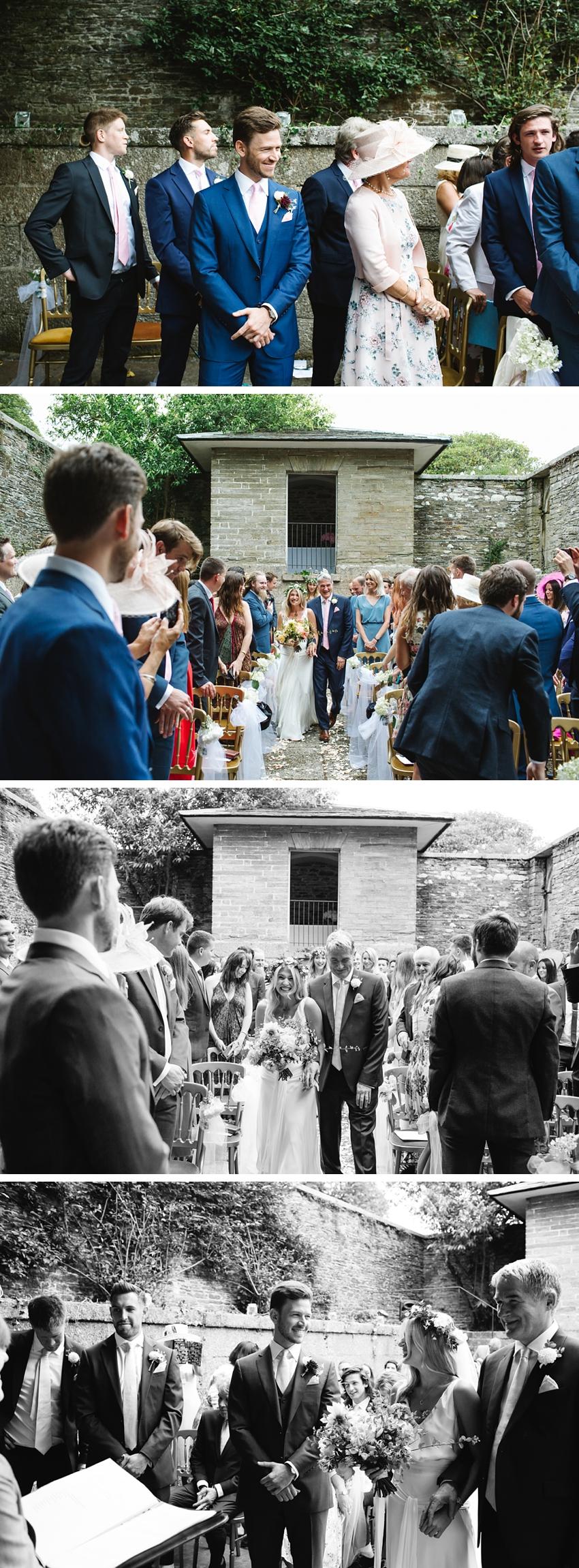 Boconnoc House Wedding, Cornwall, Outdoor ceremony, bohemian