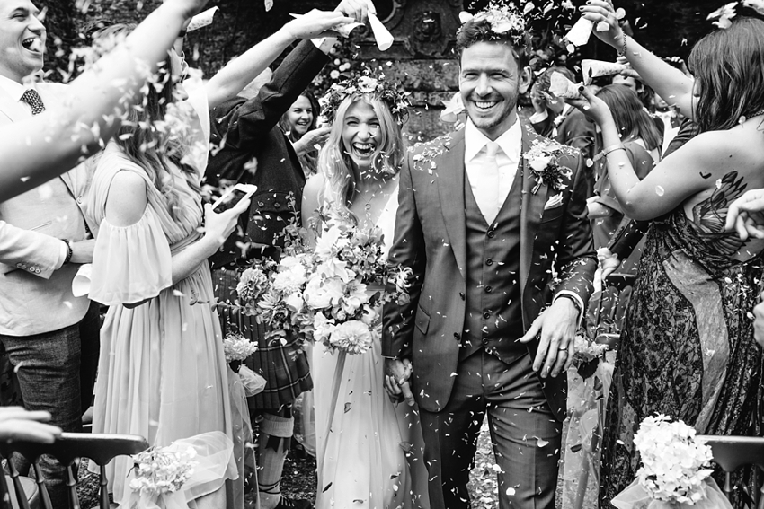 Boconnoc House Wedding, Cornwall, Outdoor ceremony, bohemian