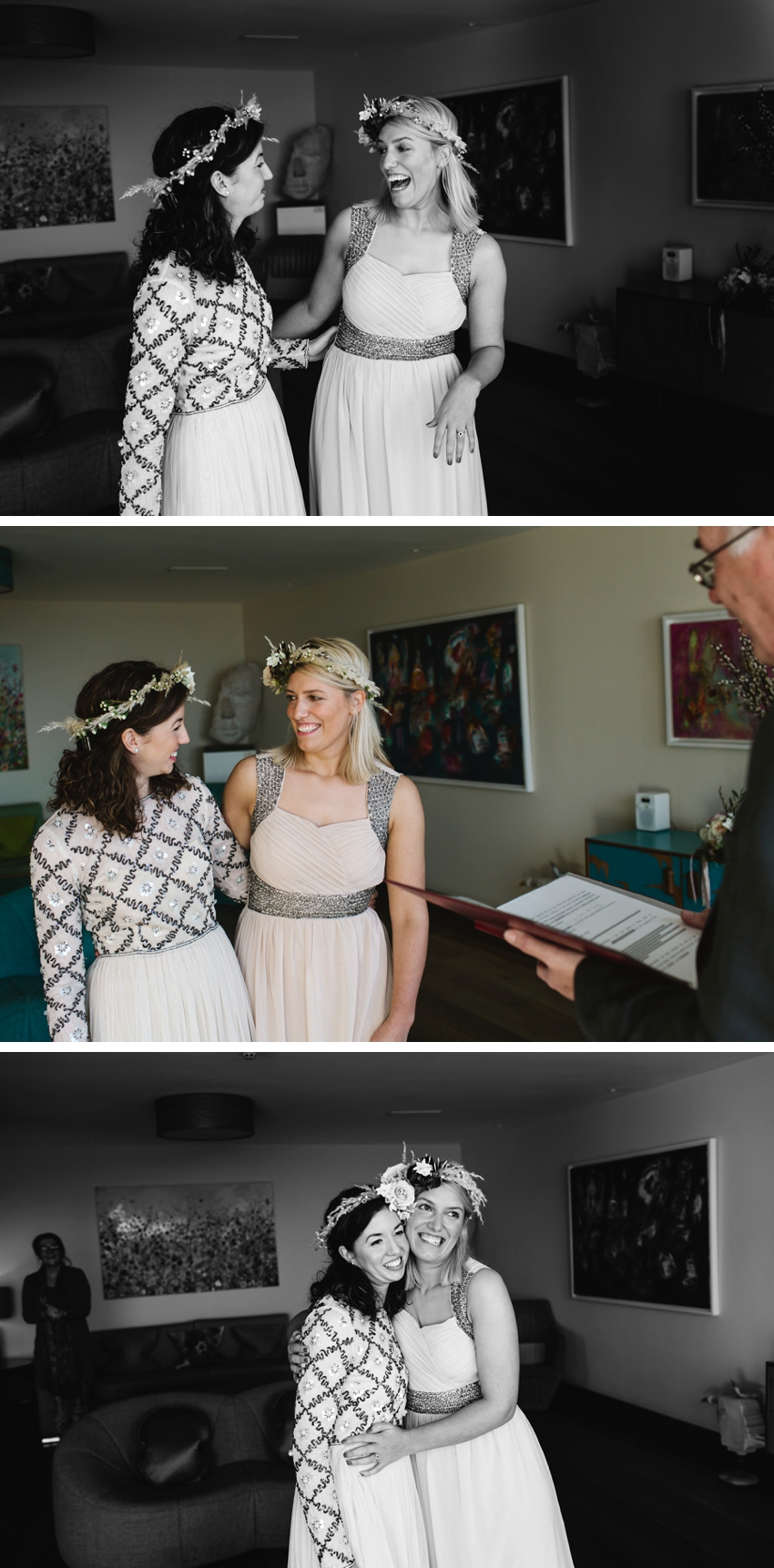 Scarlet Hotel Elopement, Same sex wedding, boho brides