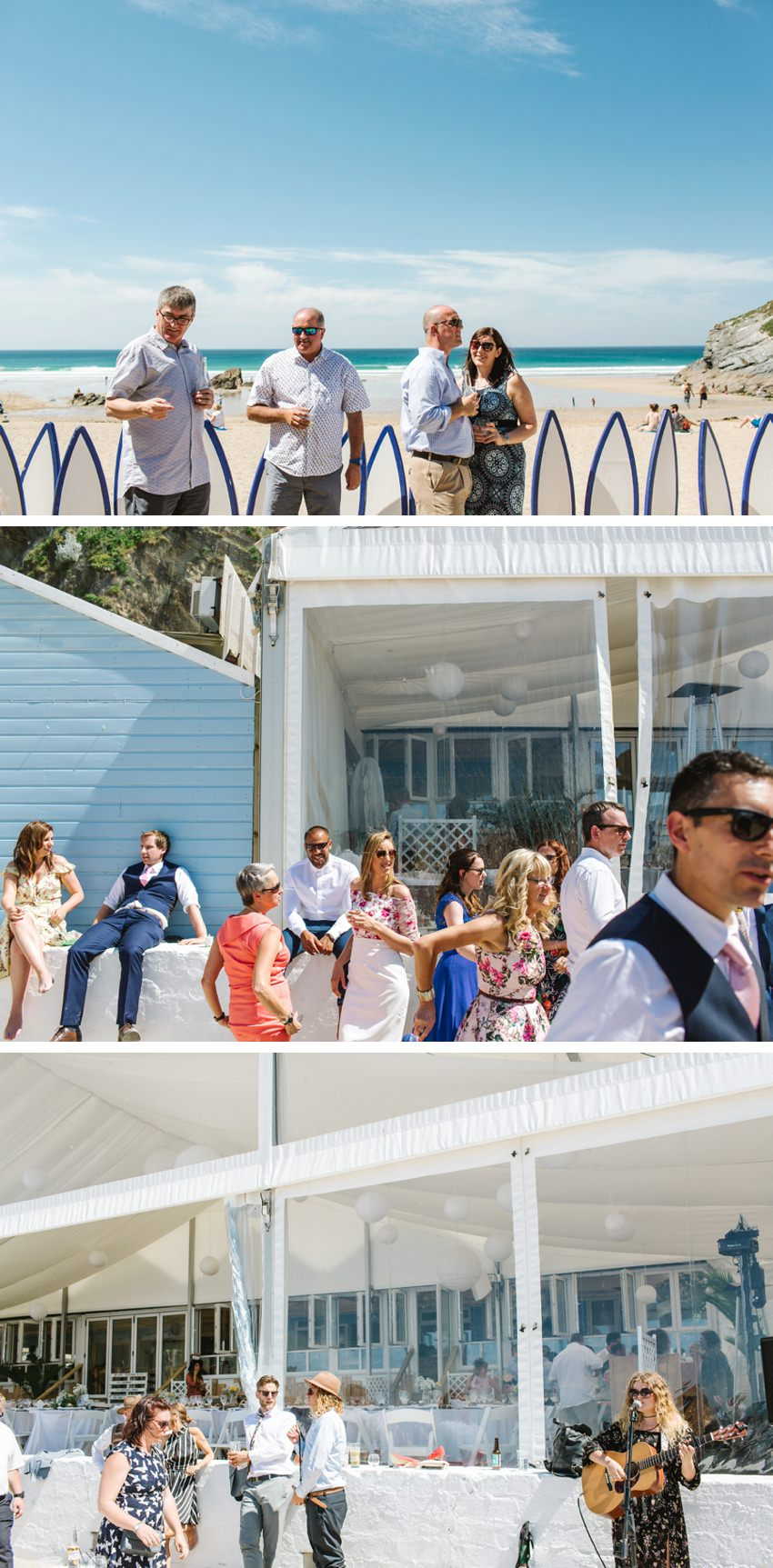 Wedding, reception, beach,lusty glaze, newquay