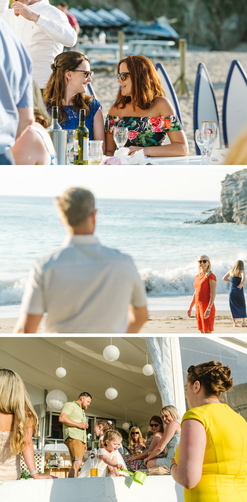 Lusty Glaze, Beach, Wedding, Summer, Casual