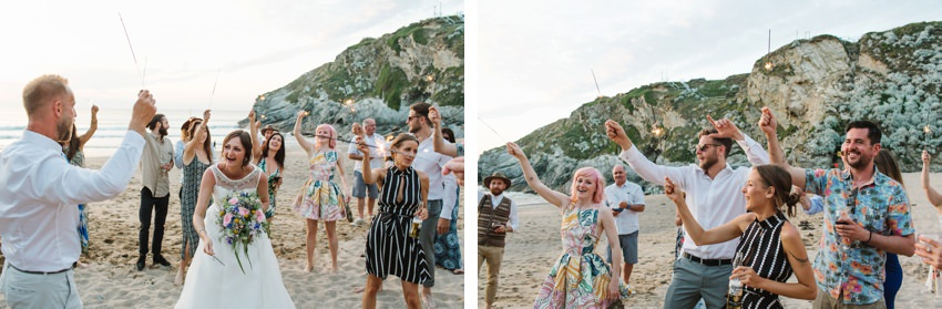 Lusty Glaze Wedding, Cornwall