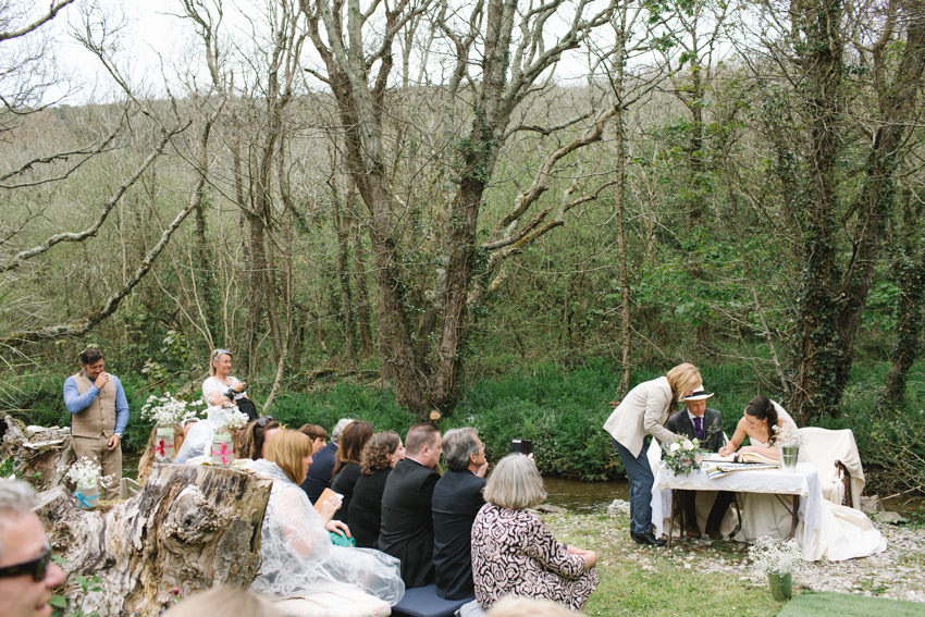 Outdoor Wedding, Retorrick Mill, Cornwall, Cornish Celebrants, Humanist Wedding