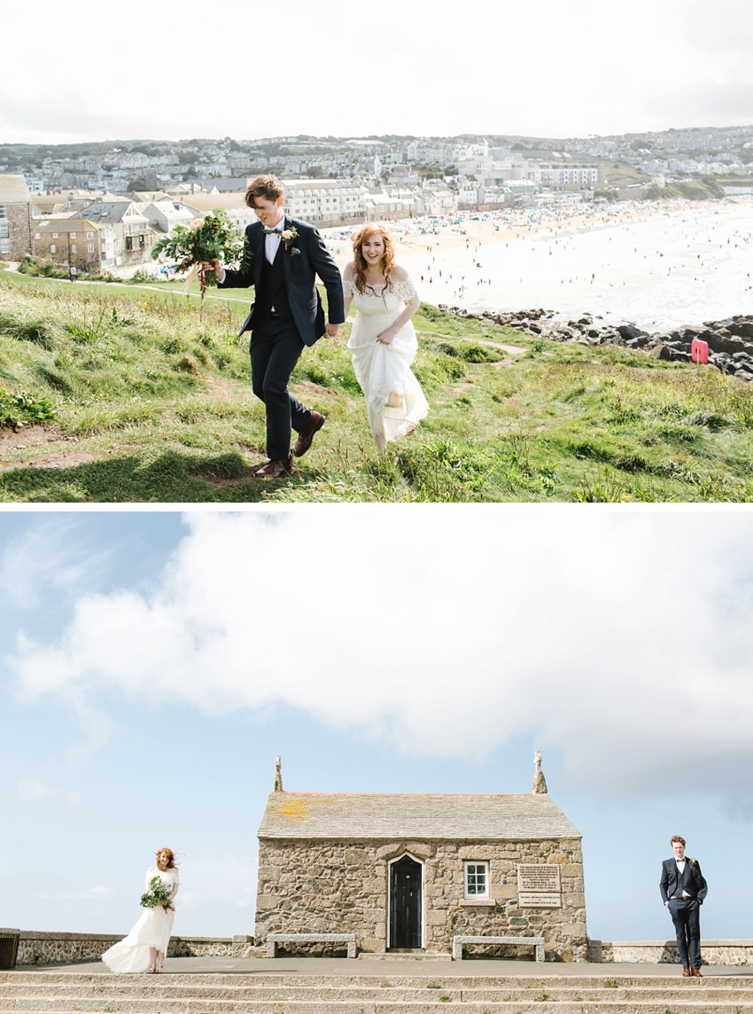 Elopement in St Nicholas Chapel St Ives Cornwall