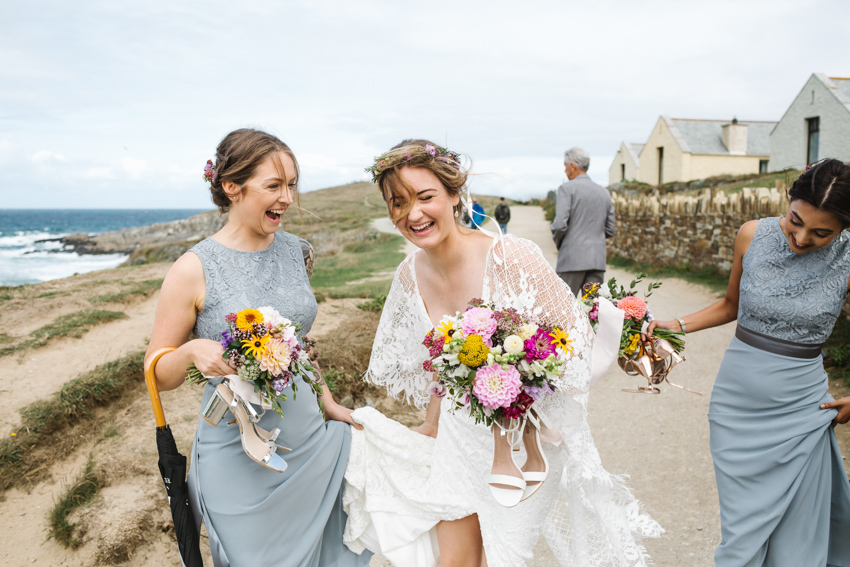 Verdelle, Grace Loves Lace, Cornwall wedding, Beach ceremony
