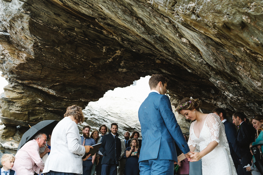 Cave, Ceremony, Beach, Wedding, Cornwall