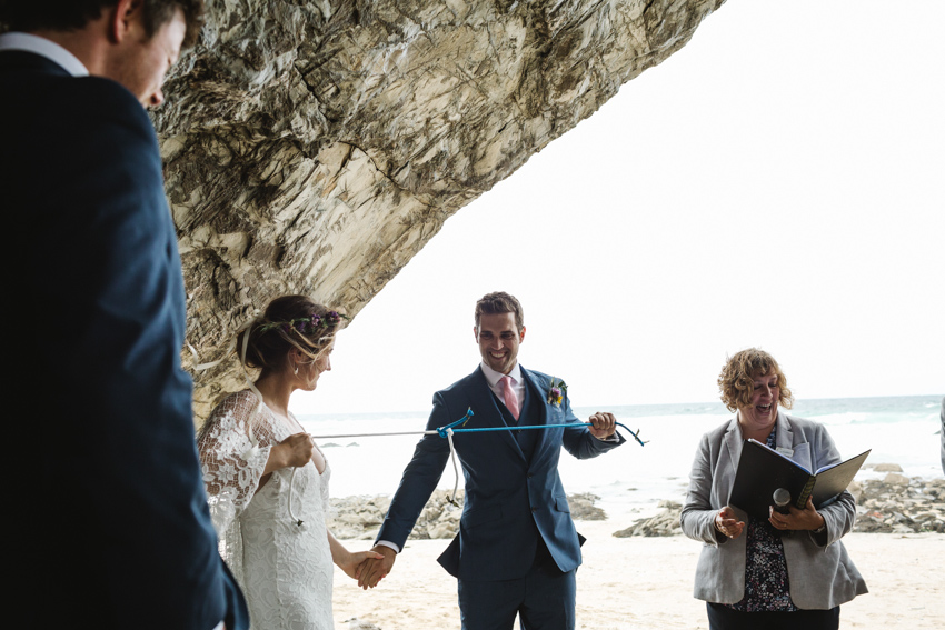 Hand fasting, ceremony, cave, wedding, beach