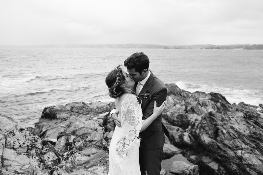 Headland Hotel Wedding and beach ceremony