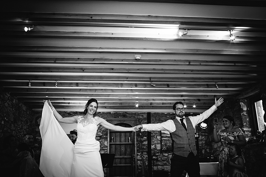 Fun knightor winery wedding